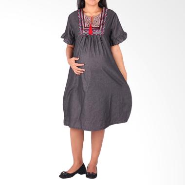 HMILL 1093 Dress Hamil & Menyusui - Hitam