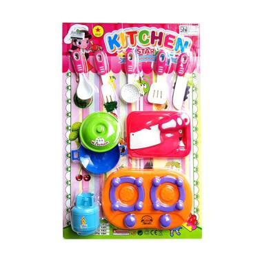 MOMO 101 Kitchen Star Series Fast Food Playset Mainan Edukasi Anak - Multicolor