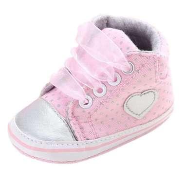 harga Sepatu Sneakers Anak Baru Lahir Motif Polkadot Bertali Untuk Pertama Blibli.com