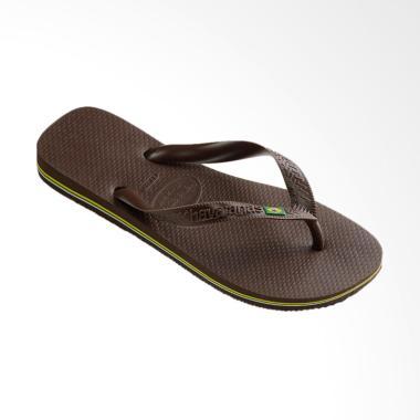 Havaianas 0727 Brasil Flip Flop Sandal Unisex - Dark Brown