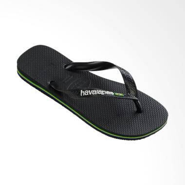 Havaianas 1069 Brasil Logo Flip Flop Sandal Unisex - Black