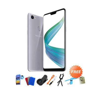 OPPO F7 Smartphone - Silver [4GB/ 64GB] + Free 10 Item