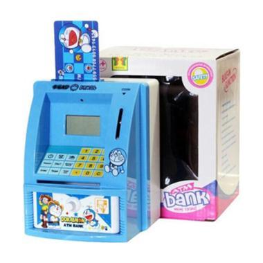Twinpe ATM Mini Doraemon Celengan - White Blue