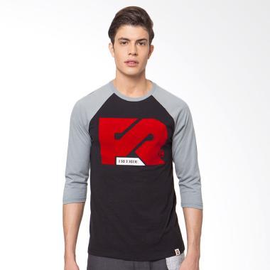 FREERIDE Red FR Logo Raglan T-Shirt