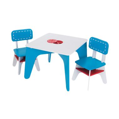 ELC 137429 Wooden Table and Chairs Meja Belajar Anak - Blue