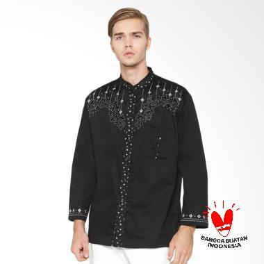 arafah_arafah-gamal-baju-koko-pria---black_full08 10 Harga Baju Koko Untuk Remaja Cowok Terlaris 2018