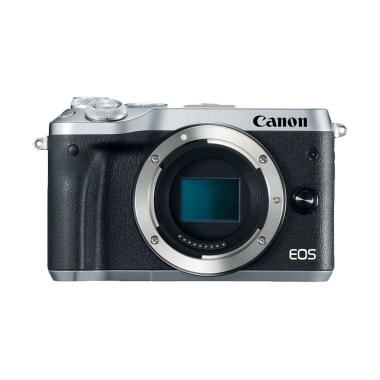 Canon EOS M6 Kamera Mirrorless - Silver [Body Only ]