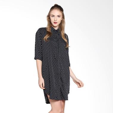 Onnea Polkadot Shirt Dress - Black