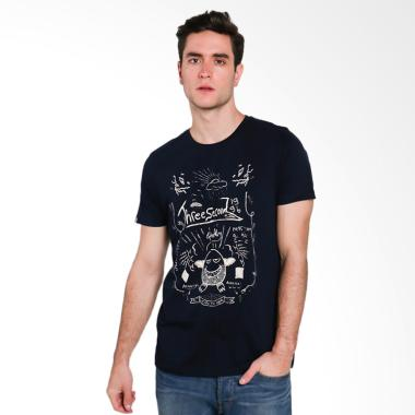3SECOND Men T-shirt Atasan Pria - Blue 193111712