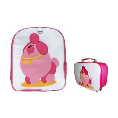 Becks Poodle Set Tas Anak - Pink