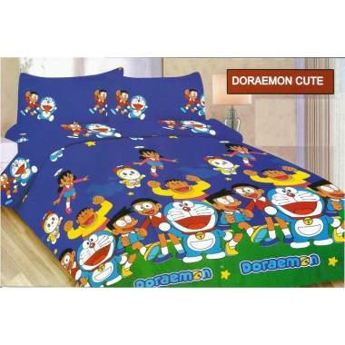Bonita Doraemon Cute Set Sprei [120 x 200 cm]