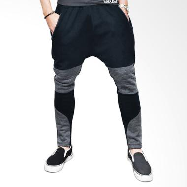 Jfashion Basic Max Celana Jogger Pria - Black Light Grey