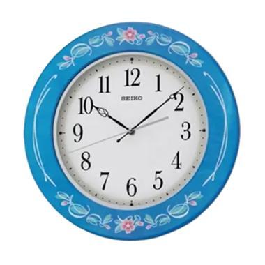 Seiko Wooden Wall Clock - Blue