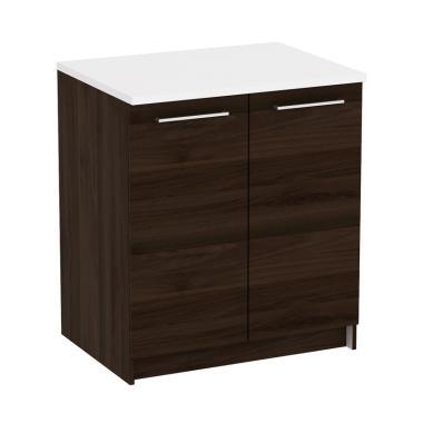 Pro Design Oklava Kabinet Dapur Brown Walnut 2 Pintu