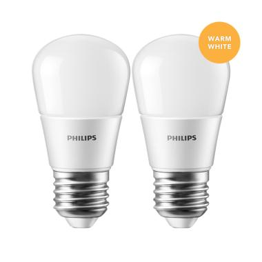 Philips Lampu LED Bulb 4 (40W) Warm White/Kuning - 2 Pcs