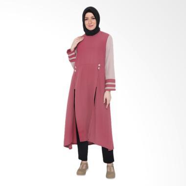 JAVA SEVEN HNS 009 Gamis Wanita - Coral Pink