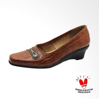 harga GRUTTY IN-041 Sepatu Wedges Wanita - Brown Blibli.com