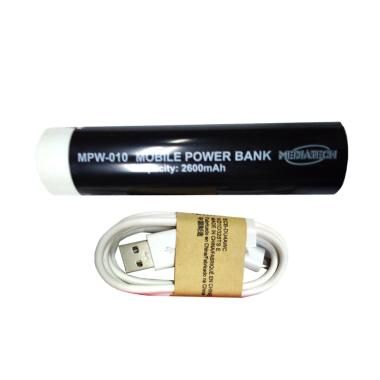 Mediatech MPW-10-63012 Powerbank - Hitam [2600 mAh]