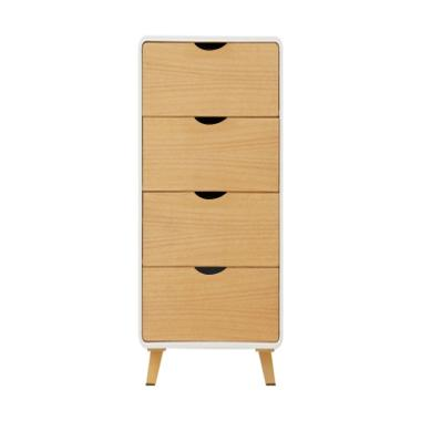 Helsinki 4 Drawers Lemari Kabinet Natural Indonesia