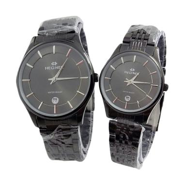 Hegner 1515 Jam Tangan Couple - Black