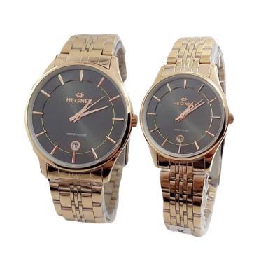 Hegner 2515 Jam Tangan Couple - Gold