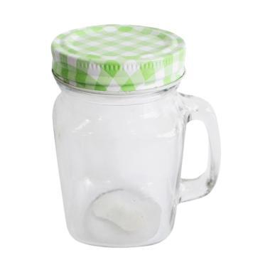 MitraLoka Mug Jar dengan Tutup - Hijau [450 mL]