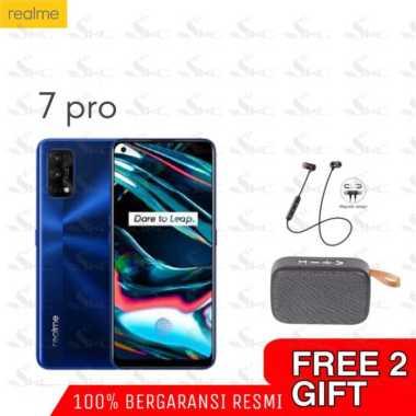 harga Realme 7 Pro 8/128GB Snapdragon 720G + + Free HEADSET bluetooth + Speaker Bluetooth BIRU Blibli.com