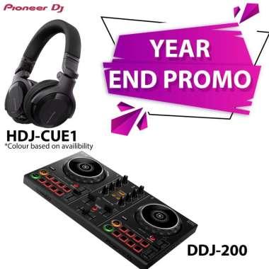 harga Pioneer DJ Controller DDJ 200 + Headphone HDJ CUE1 hitam Blibli.com