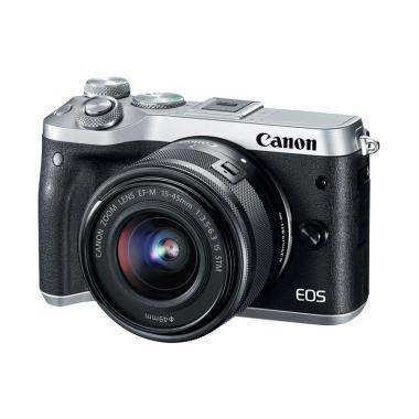 Canon EOS M6 Kit 15-45mm Kamera Mir ... Free Extra Battery LP-E17