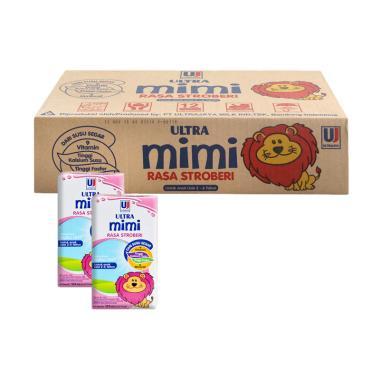 harga Ultra Jaya Mimi Susu UHT - Strawberry [125 mL/1 Dus] Blibli.com