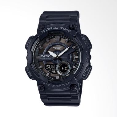 CASIO Standard Jam Tangan Sport Pria - Black AEQ-110W-1BVDF