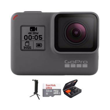GoPro Hero 5 Combo 3 Way Deluxe 32 GB Action Camera - Black