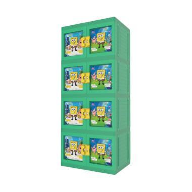 Naiba MPC Printing 9863 SPG Spongebob Plastik Lemari Pakaian