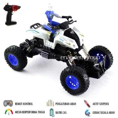 harga Mainan Mobil Remot Kontrol RC Motor Offroad Climbing Model Polisi - Biru Blibli.com