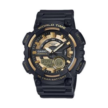 CASIO Jam Tangan Pria AEQ-110BW-9AVDF - Black Gold