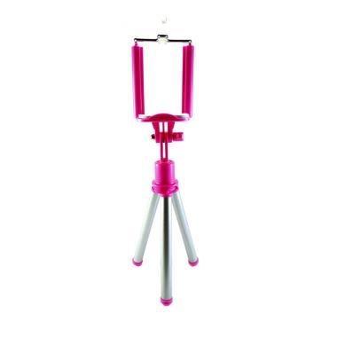Mini Tripod Holder Lipat - Pink