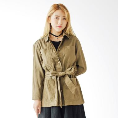 Coup Women Sleeve Parka - Army