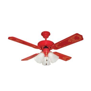 Uchida CF-125 RD Ceiling Fan [3 Lampu]