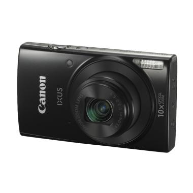 Canon IXUS 190 Kamera Pocket - Black + Free LCD Screen Guard