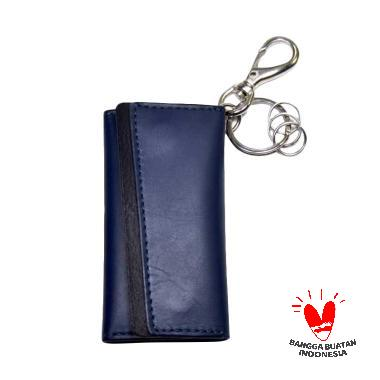 Basics-Q Arion Key Wallet - Navy Blue