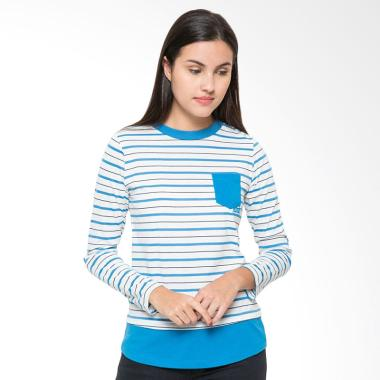 Nevada Stripes Pocket Round Neck T-Shirt