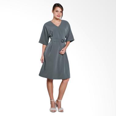 Papercut Fashion GZ 02 GM Bosom Bud ... k with Belt Dress - Green