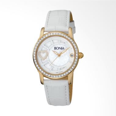 Bonia B10014-2259S Jam Tangan Wanita - White Gold 8fb7fcca82