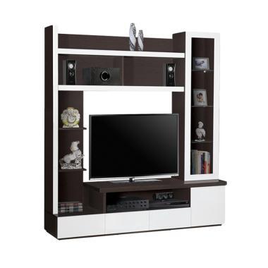 Graver Furniture Lemari TV LVR-2658 Minimalis Lemari TV - Coklat Oak