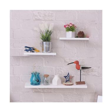 DEcTionS Set Floating Shelves - Putih [3 pcs/ 40 x 20 x 20 cm]