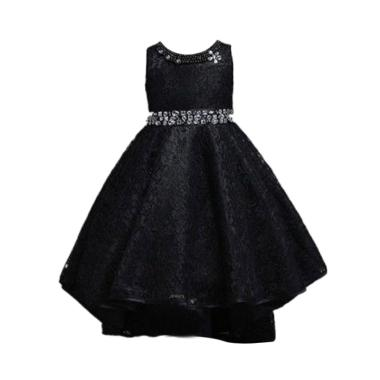 VERINA BABY Variasi Sequin and Belt Sequin Dress Pesta Anak - Hitam