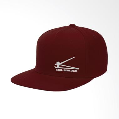IndoClothing Coil Builder Topi Snapback Pria - Maroon