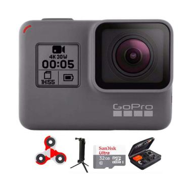 GoPro Hero 5 Combo 3 Way Deluxe 32GB SpinIndo Action Camera - Black