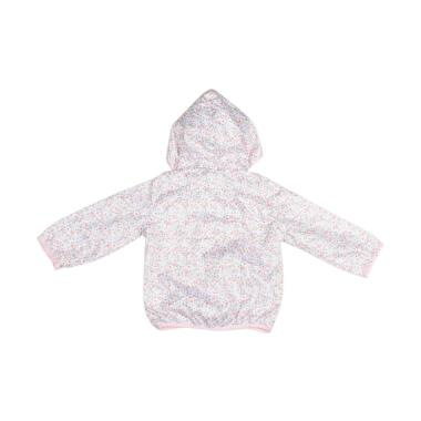 Branded Outlet BO 1021 H&M Parasut Flowery Jacket Anak Perempuan - White