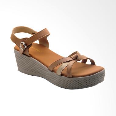 Mascotte C07 000 Sepatu Wedges Wanita - Camel